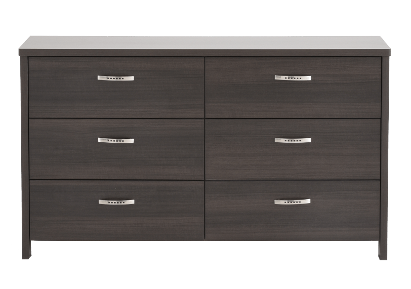 Dark Grey 6-Drawer Dresser product photo Front View L