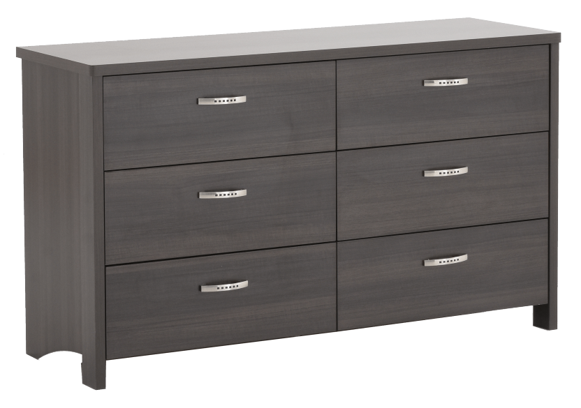 Dark Grey 6-Drawer Dresser product photo other01 L