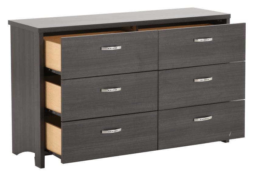 Dark Grey 6-Drawer Dresser product photo other02 L