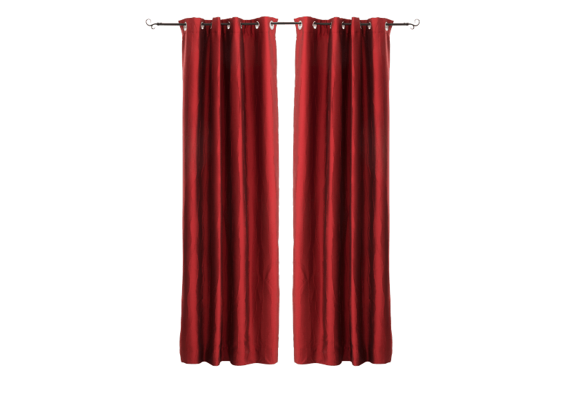 "Set of 2 54X96"" Red Curtains product photo Front View L"