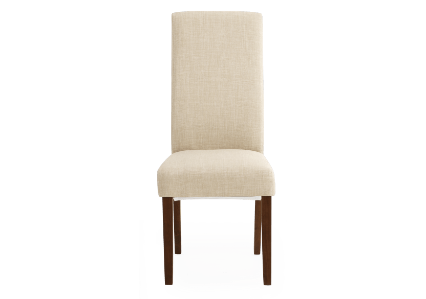 Brown and Beige Upholstered Chair product photo Front View L