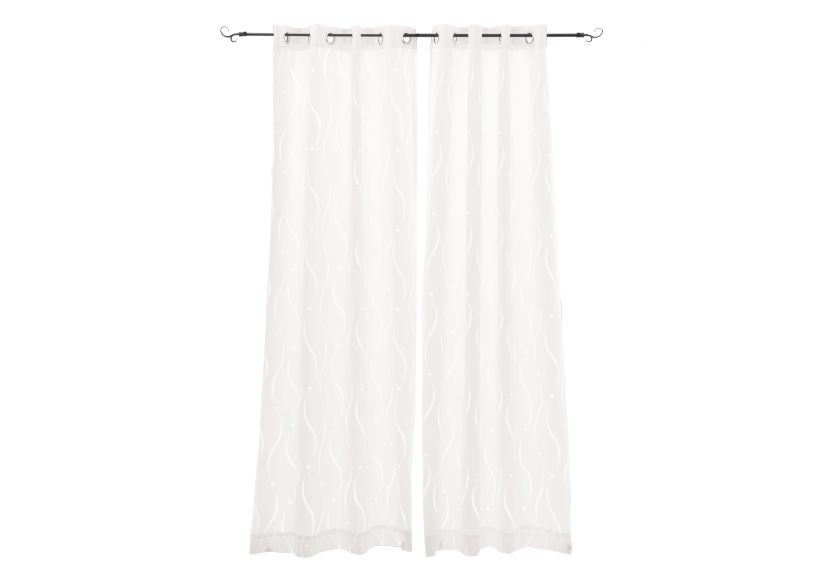 "Set of 2 54x96"" White Curtains product photo Front View L"