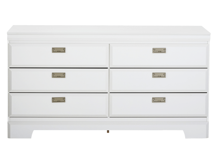 White 6-Drawer Dresser product photo