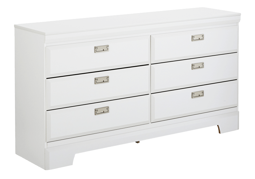White 6-Drawer Dresser product photo other01 L