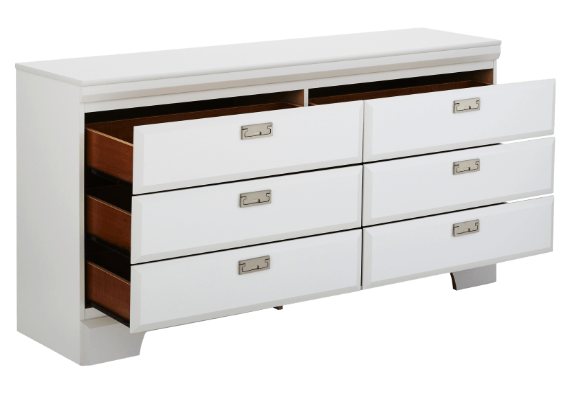 White 6-Drawer Dresser product photo other02 L
