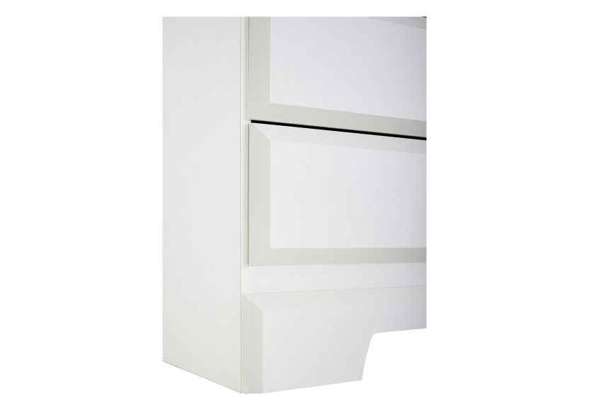White 6-Drawer Dresser product photo other05 L