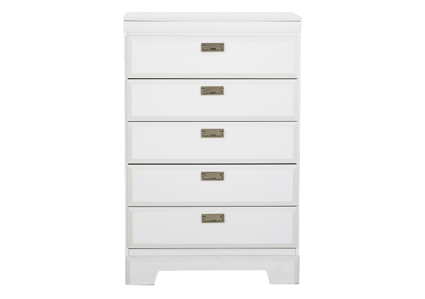 White 5-Drawer Chest product photo