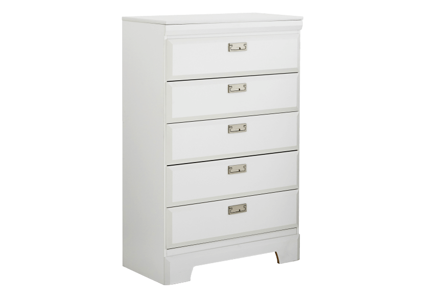 White 5-Drawer Chest product photo other01 L