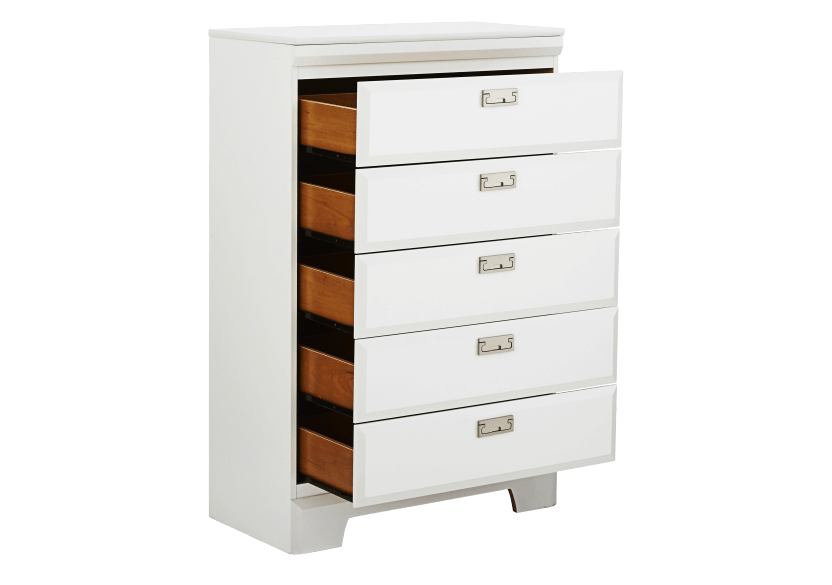 White 5-Drawer Chest product photo other02 L