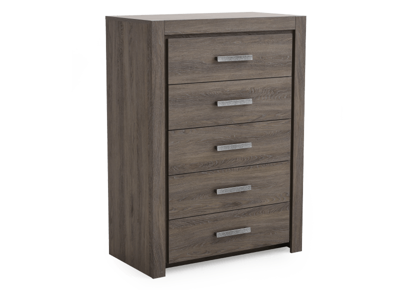Brown Grey 5-Drawer Chest product photo other01 L