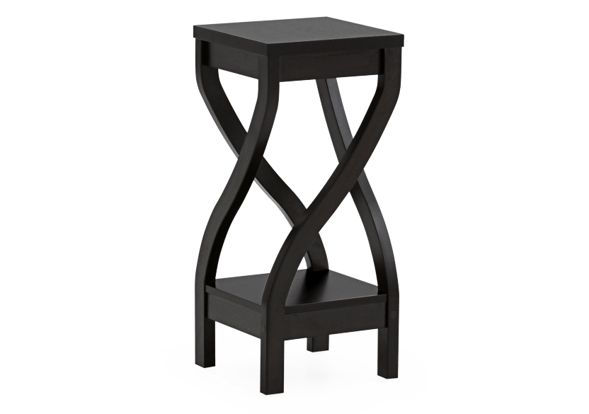 Dark Brown Wooden Plant Side Table product photo other01 L