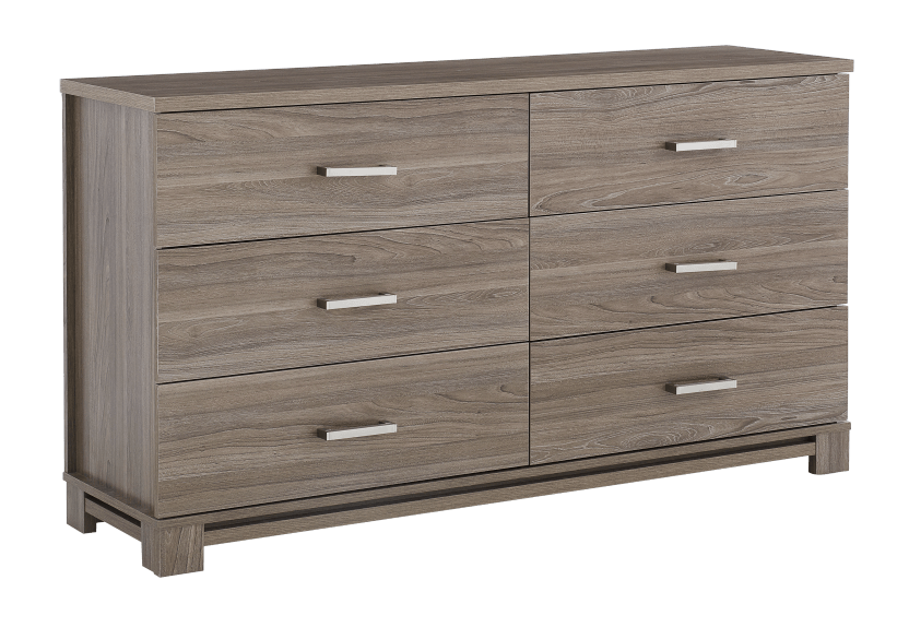 Brown 6-Drawer Dresser product photo other01 L