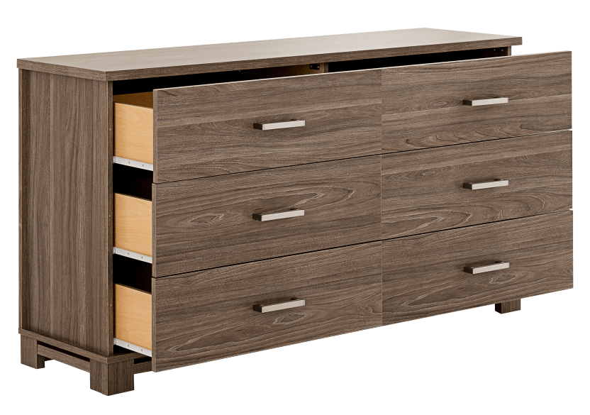 Brown 6-Drawer Dresser product photo other02 L