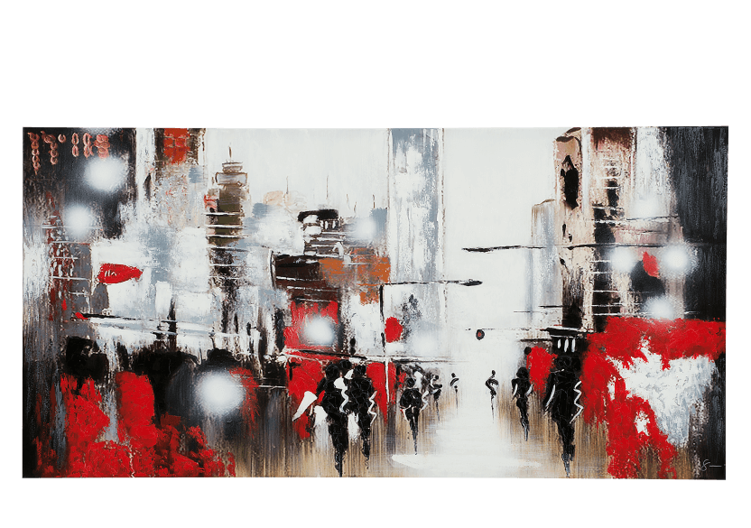 "30x60"" Red and Black Painting product photo"