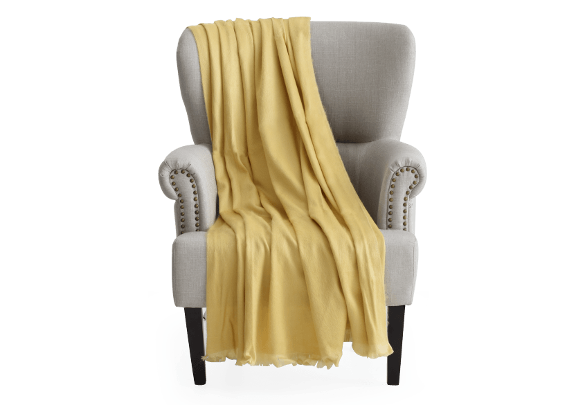 Wool Throw - Yellow product photo