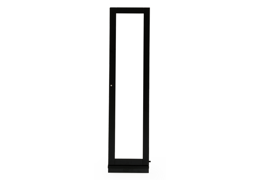 Black Jewelry Cabinet with Mirror product photo