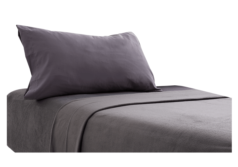 Dark Grey Sheet Set - Twin size product photo Front View L
