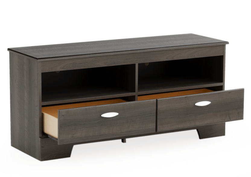 2 Shelves Grey TV Stand product photo other02 L