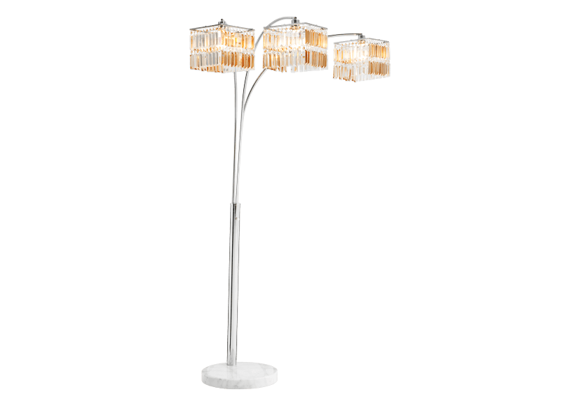 Floor Lamp in Marble and Chromed Metal with Crystals Shades product photo other01 L