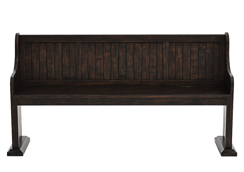 Dark Brown Pine Bench product photo Front View L