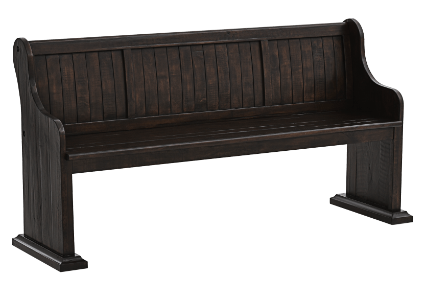 Dark Brown Pine Bench product photo other01 L