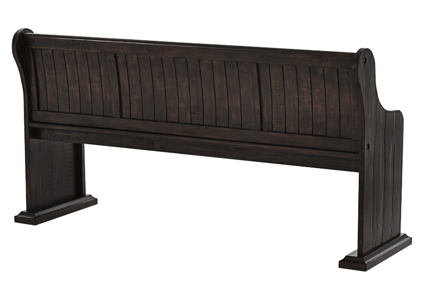 Dark Brown Pine Bench product photo other03 L