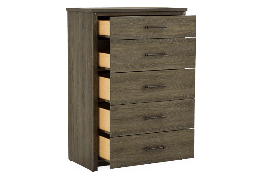 Brown Grey 5-Drawer Chest product photo other02 L