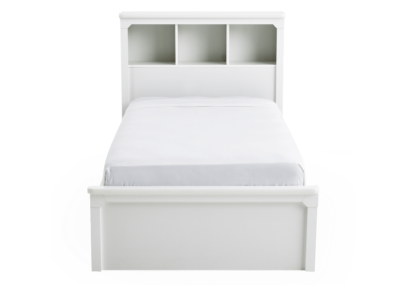 White Twin Kid Storage Bed product photo