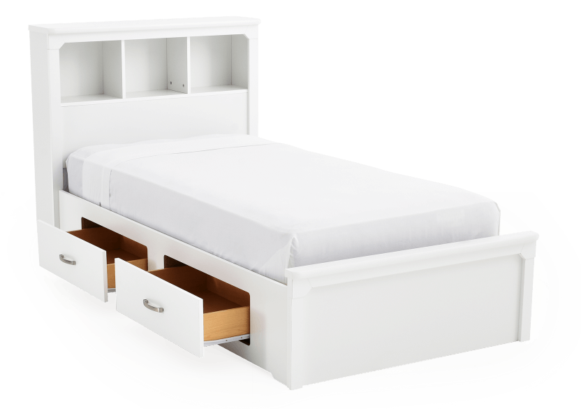 White Twin Kid Storage Bed product photo other02 L