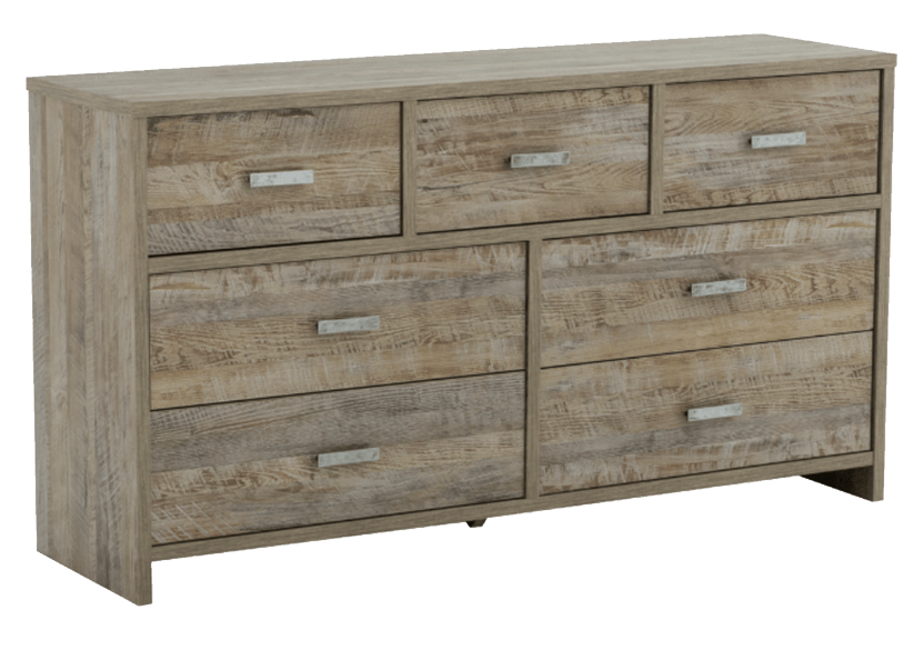 Brown 7-Drawer Dresser product photo other01 L