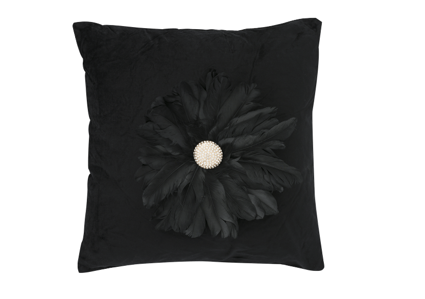"20x20"" Black Decorative Pillow product photo Front View L"