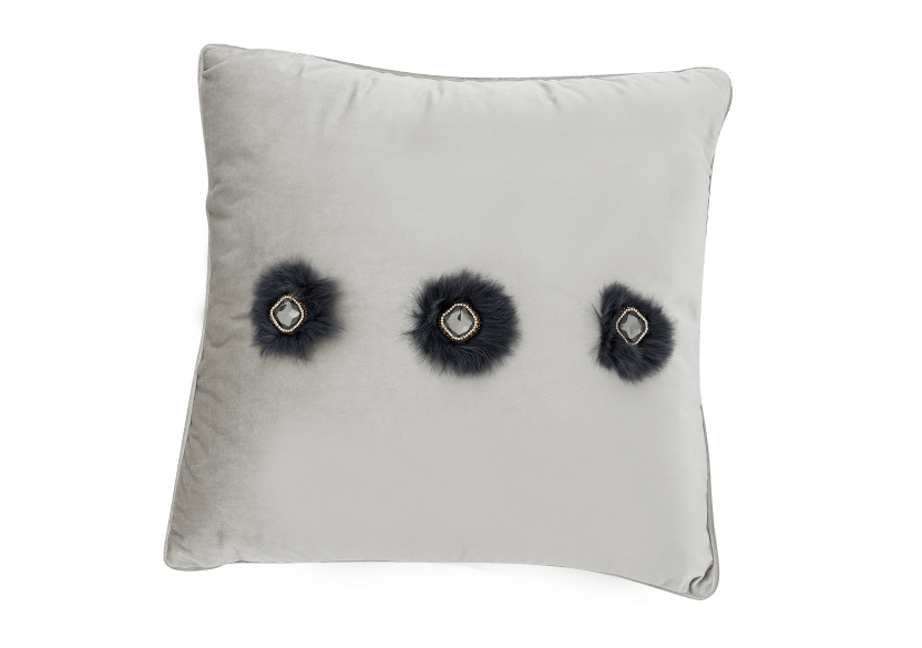 "20x20"" Grey Decorative Pillow product photo Front View L"