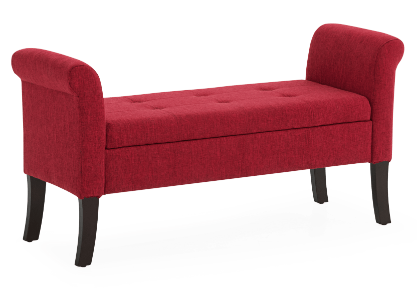 Red Upholstered Storage Bench product photo other01 L