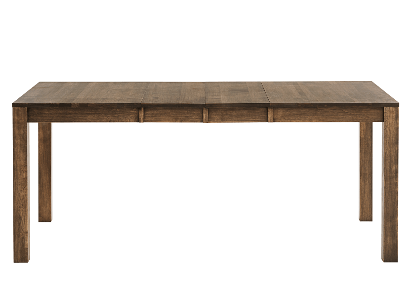 Brown Solid Birch Table with Central Leaf product photo other01 L