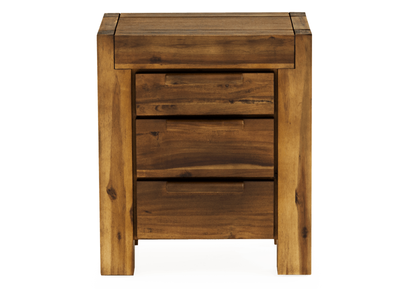 Brown Acacia Nightstand product photo