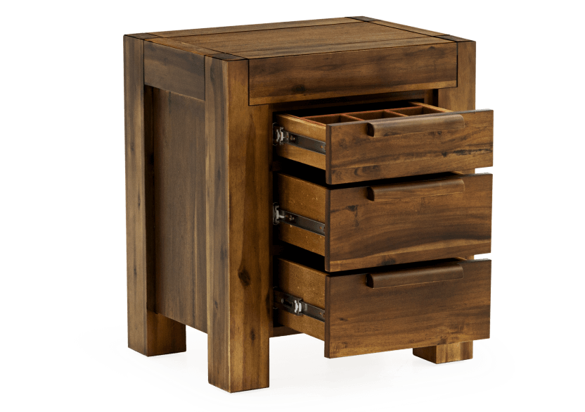 Brown Acacia Nightstand product photo other02 L