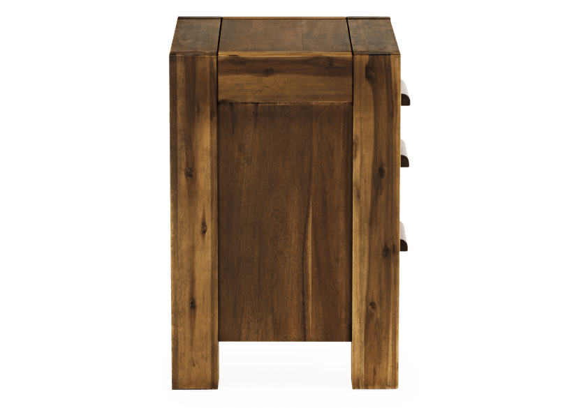 Brown Acacia Nightstand product photo other03 L