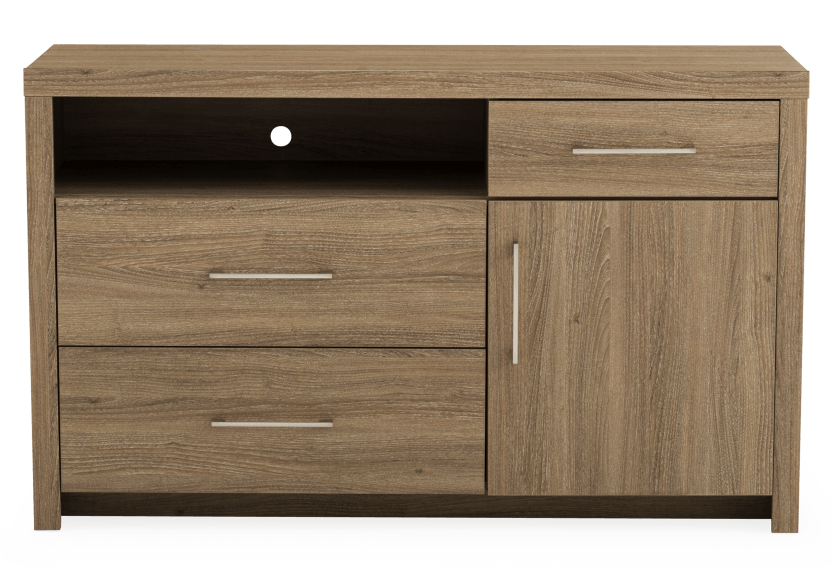 Brown 3-Drawer Dresser product photo