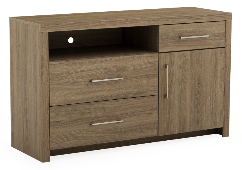 Brown 3-Drawer Dresser product photo other01 L