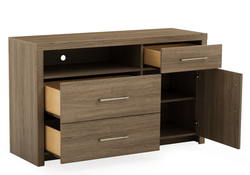 Brown 3-Drawer Dresser product photo other02 L