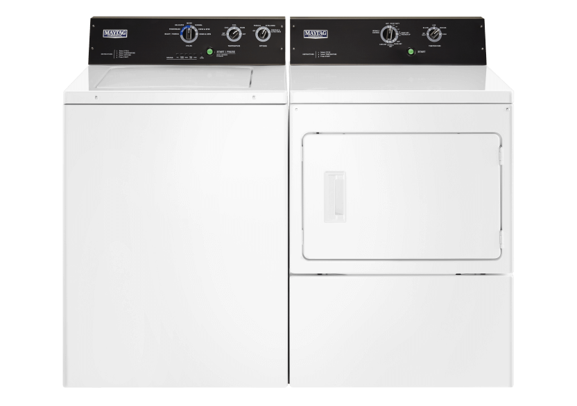 Maytag Washer and Dryer Set - MVWP575GW YMEDP575GW product photo Front View L