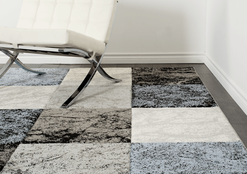 "63x91"" Blue and Grey Rug product photo other04 L"