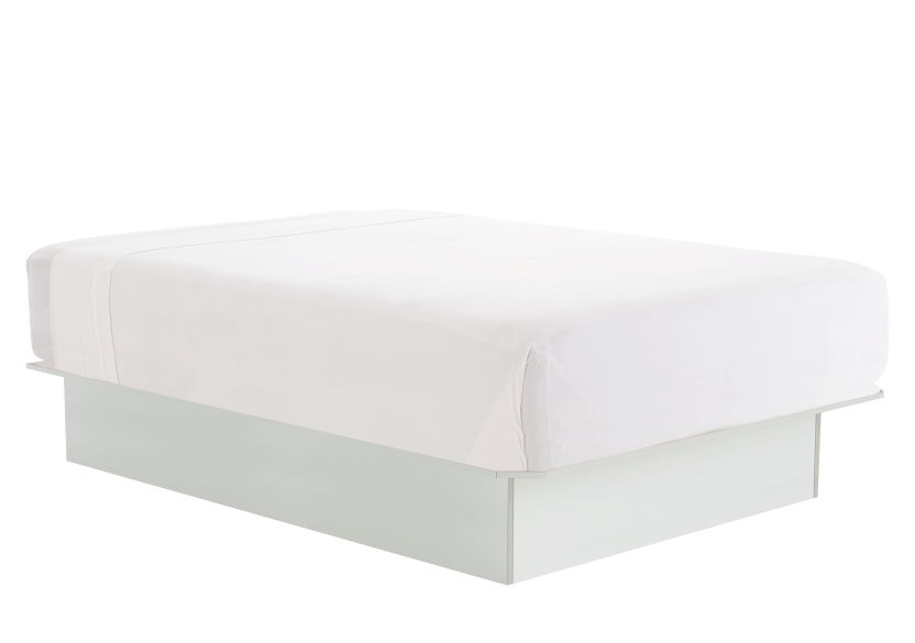 White Double Platform Bed product photo