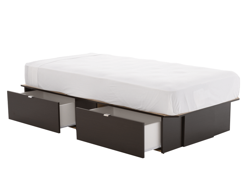 Dark Brown Twin Platform Bed product photo other03 L