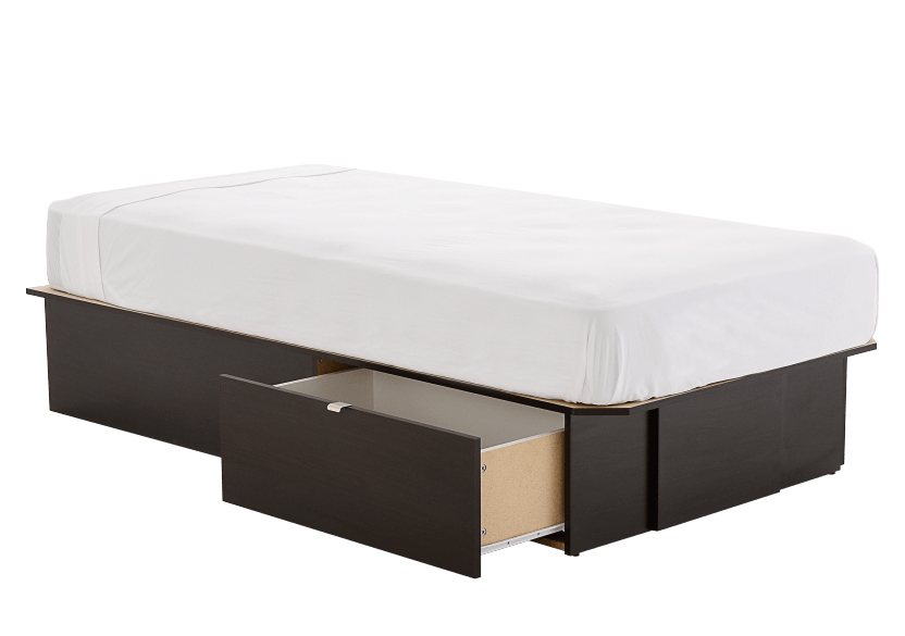 Dark Brown Twin Platform Bed product photo other02 L