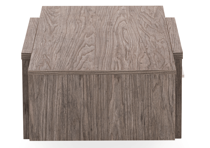 Dark Grey Rectangular Coffee Table product photo other03 L
