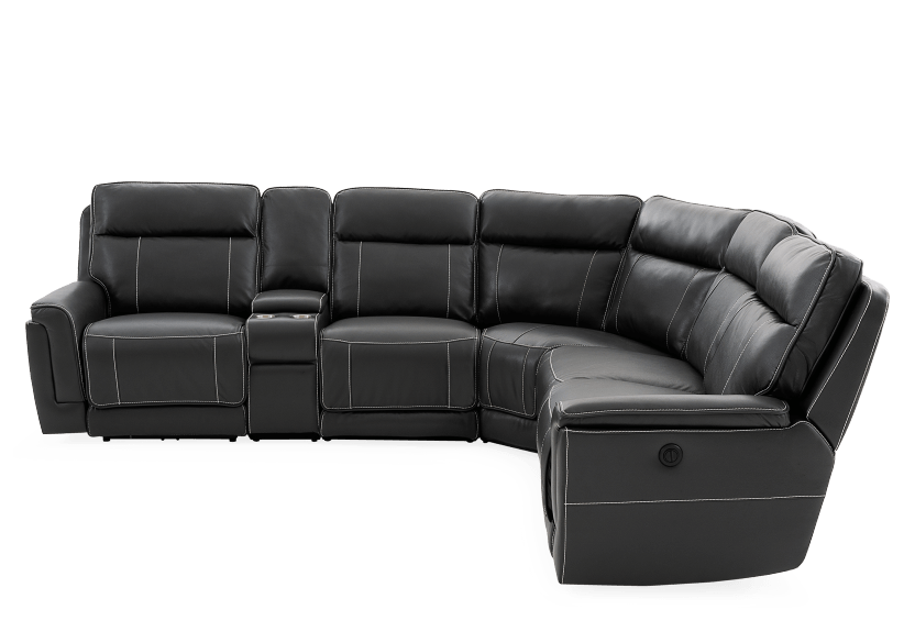 Grey Reclining and Motorized Sectional Sofa product photo