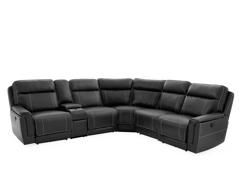 Grey Reclining and Motorized Sectional Sofa product photo other01 L