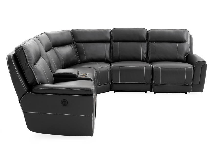 Grey Reclining and Motorized Sectional Sofa product photo other02 L