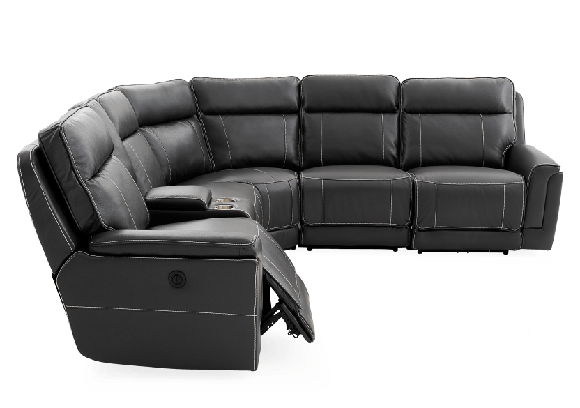 Grey Reclining and Motorized Sectional Sofa product photo other03 L
